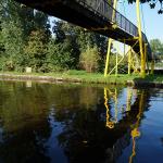 Voor fietsers en wandelaars is dit voorlopig de laatste mogelijkheid de IJssel over te steken.