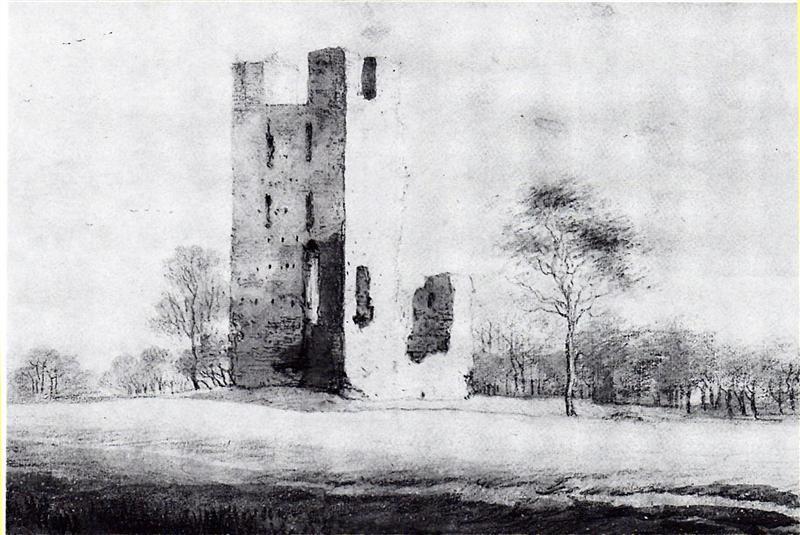 Huis te Vliet, Oudewater tekening van Roelant Roghman, 1646-47
